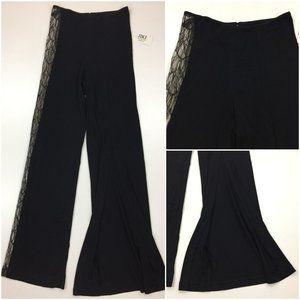 NWT JIKI MONTE CARLO Creations Lace Slit Pants